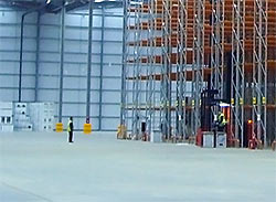 Large warehouse floor