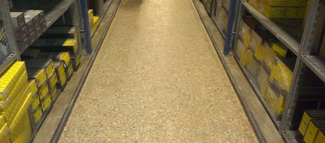Laser ground superflat narrow aisle